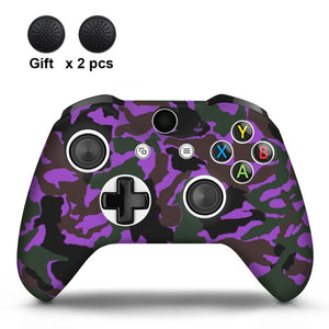 Camo Purple Xbox One S Silicone Cover Skin With Grips
