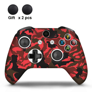 Camo Red  Xbox One S Silicone Cover Skin With Grips