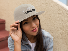 Load image into Gallery viewer, Glassby Gaming Heather Grey Snapback Hat