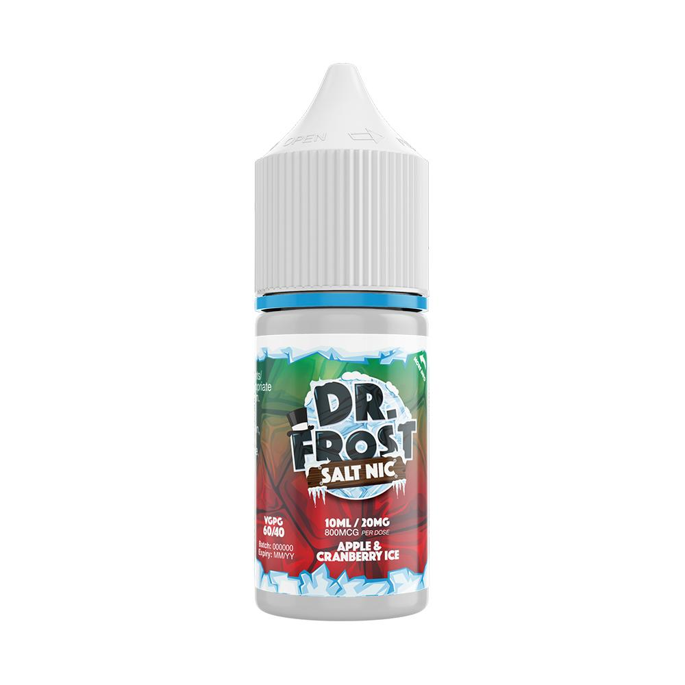 Dr Frost Apple & Cranberry Ice 10ml Nic Salt (PACK OF 10)