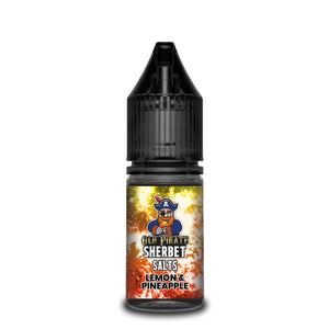 Old Pirate Sherbet Salts 10ml Lemon and Pineapple (Box of 10)
