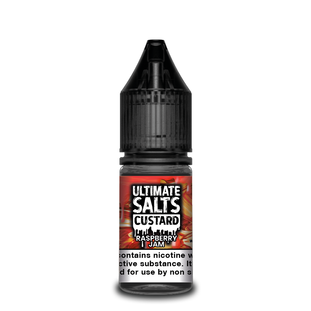 Ultimate Salts Custard 10ml Raspberry Jam (Box of 10)