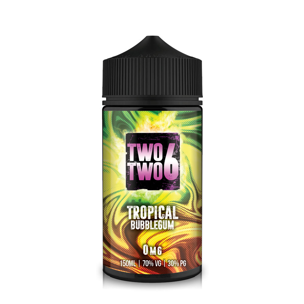 226 Bubblemix 150ml Tropical Bubblegum Short–fill