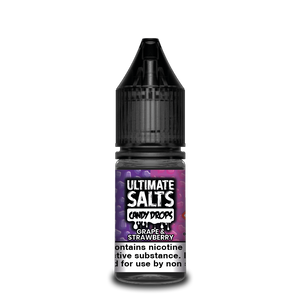 Ultimate Salts Candy Drops 10ml Grape & Strawberry (Box of 10)