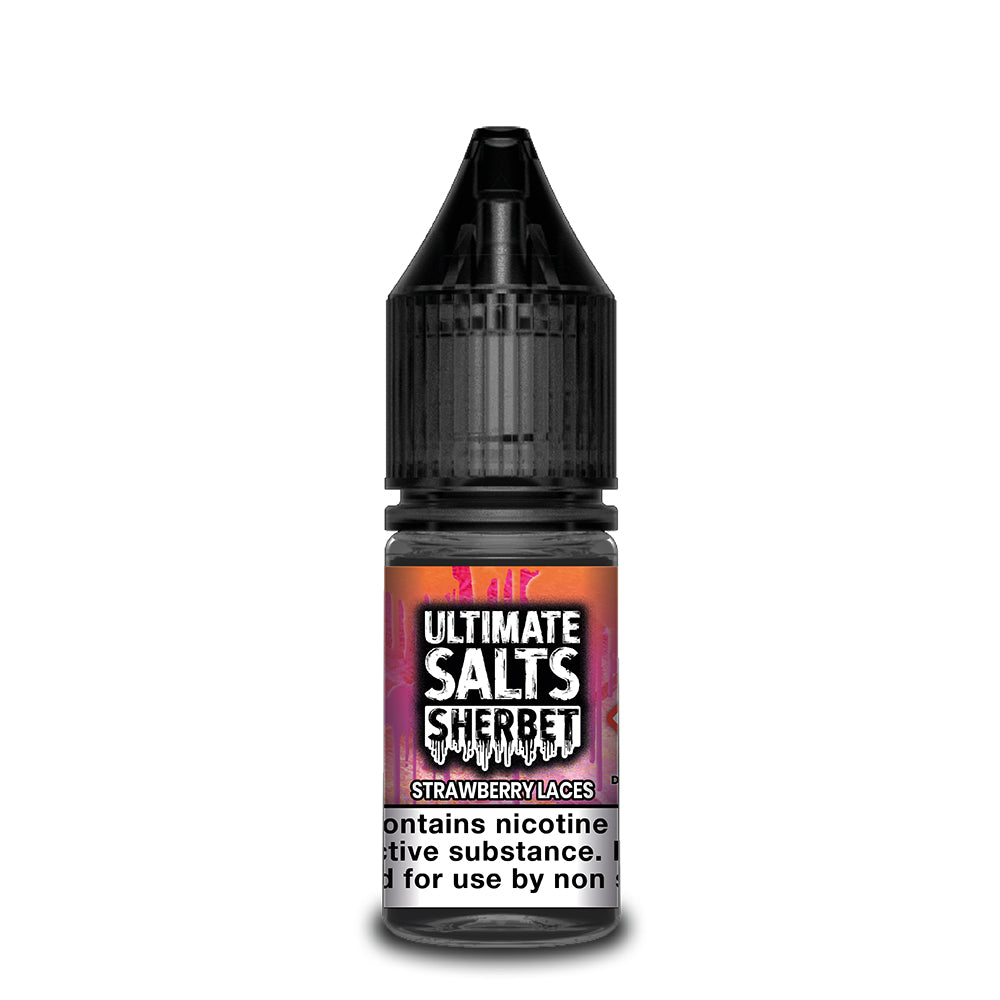Ultimate Salts Sherbet 10ml Strawberry Laces (Box of 10)