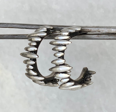 Burst Hoop in Sterling