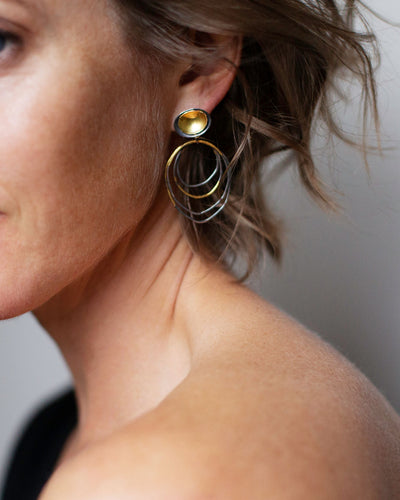 Ripple Rim Earrings-NS