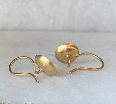 Birch Earrings with Mixed Metals