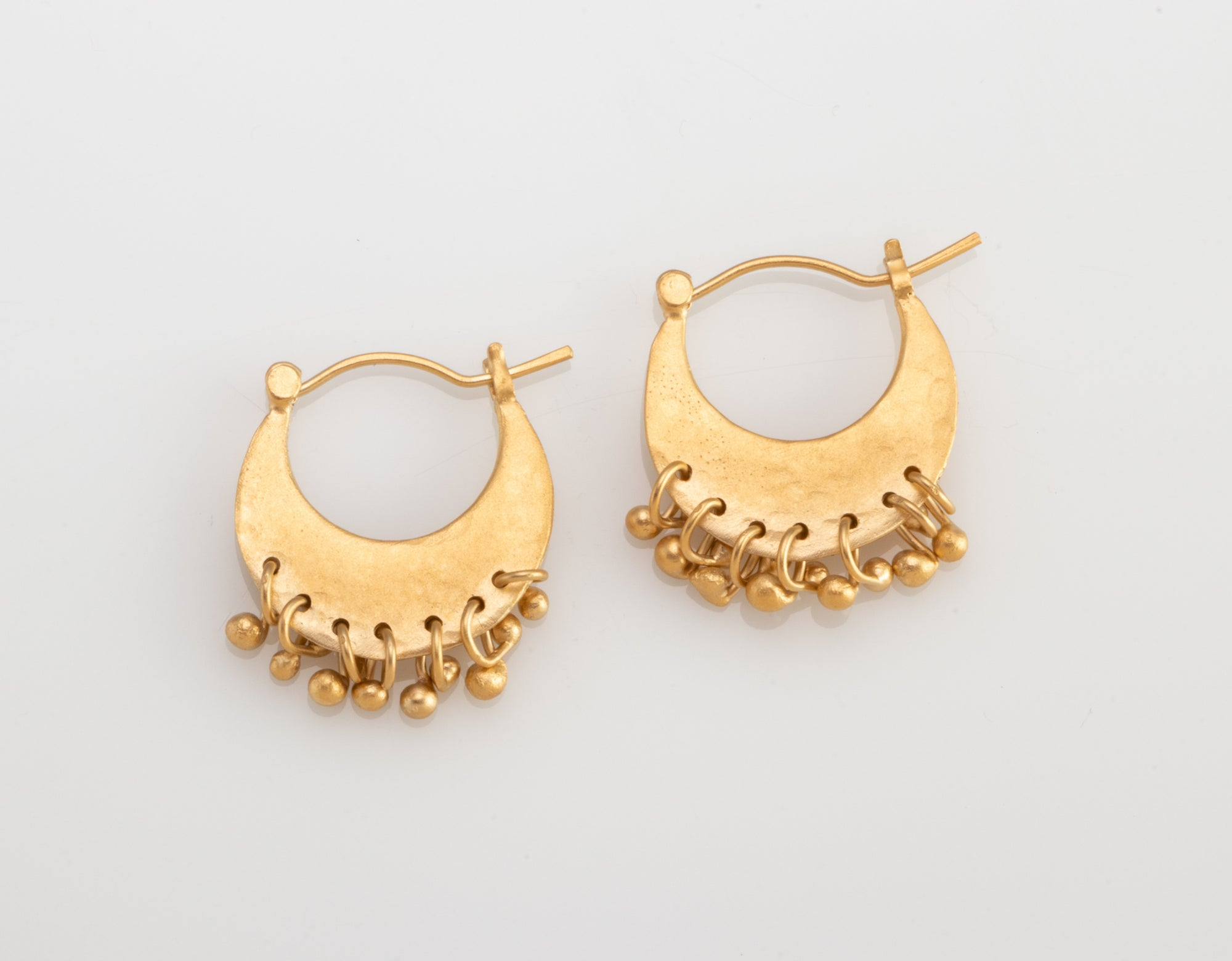 Half Moon Peg Earrings in Vermeil