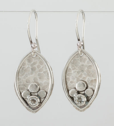 Bud Earrings in Silver