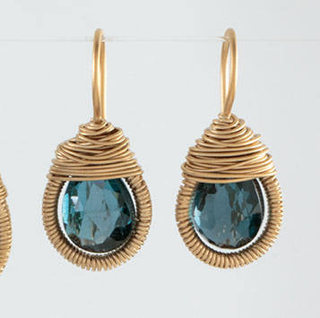 Teardrop Wrapped Earring in Vermeil