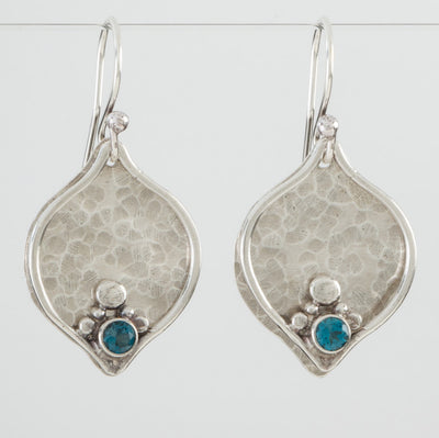 Sterling Plum Earrings
