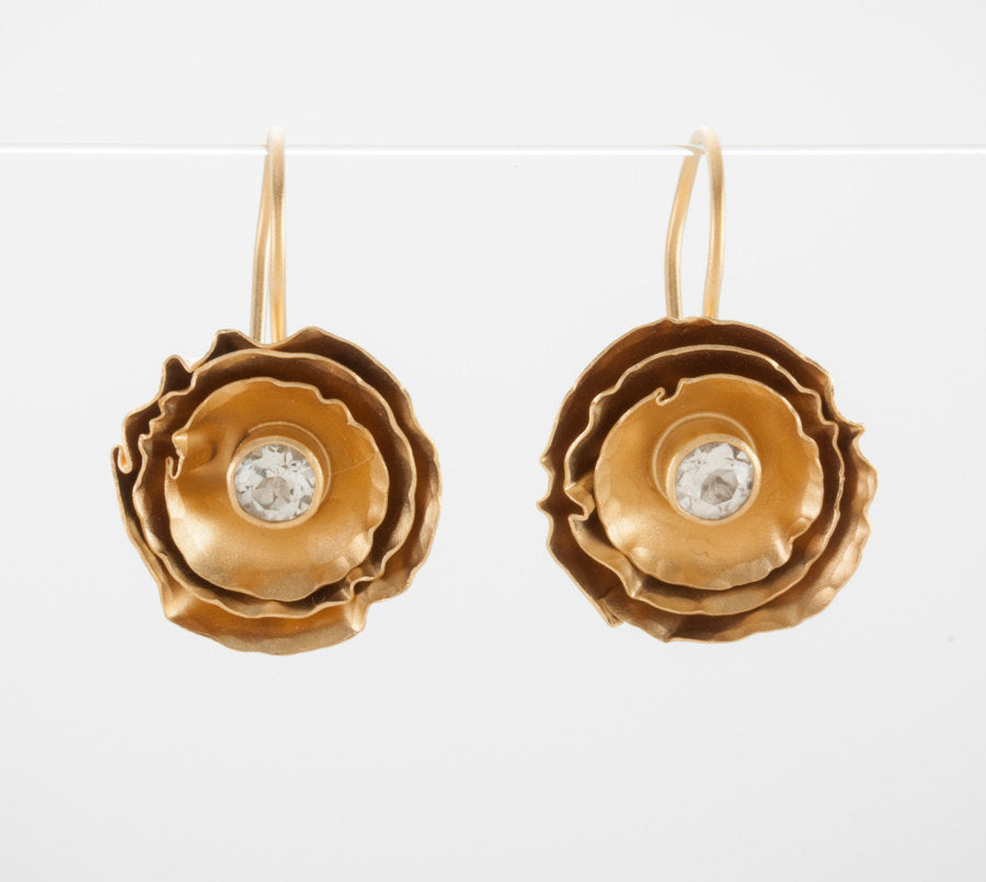 Buttercup Earring with White Topaz