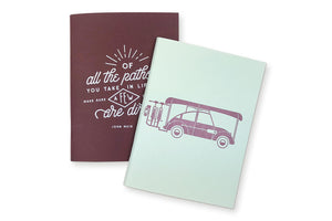 Adventure and Dirt Paths Pocket Notebooks