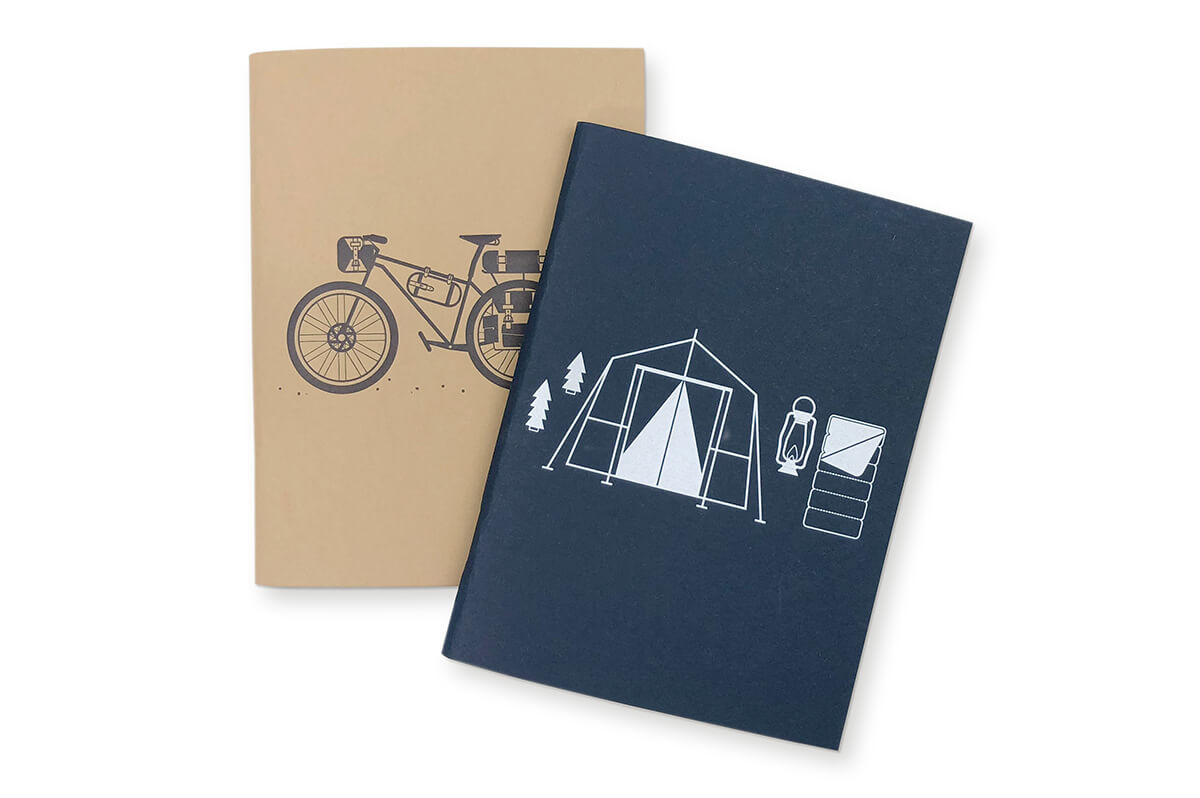 Bicycle Camping Pocket Notebooks