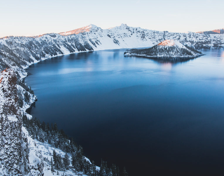 Crater Lake Sunset Print 11x14