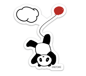 Panda Balloon Sticker