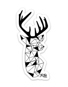 Geometric Stag Sticker