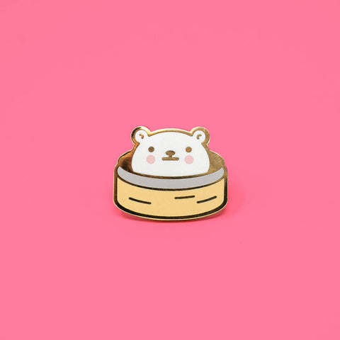 Bear Bao Enamel Pin