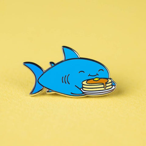 Pancake Shark Enamel Pin