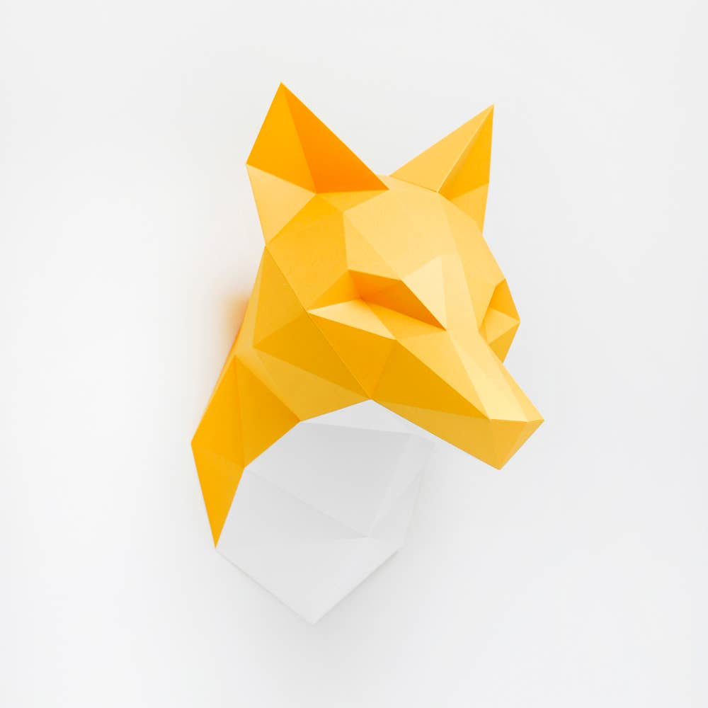 Paper Fox Wall Trophy