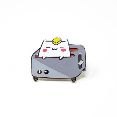 Toaster Cat Enamel Pin