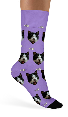 Custom Cat Socks - Sock Club Design Lab