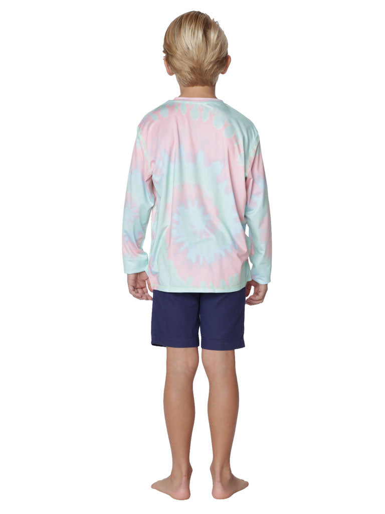 Boy's loose fit sun shirt in Tie Dye