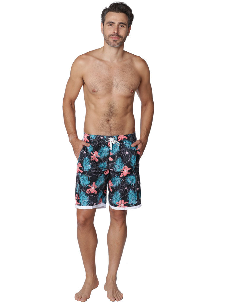 Men's Board Shorts in outlined florals