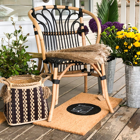 The Floral Stand chair and florals