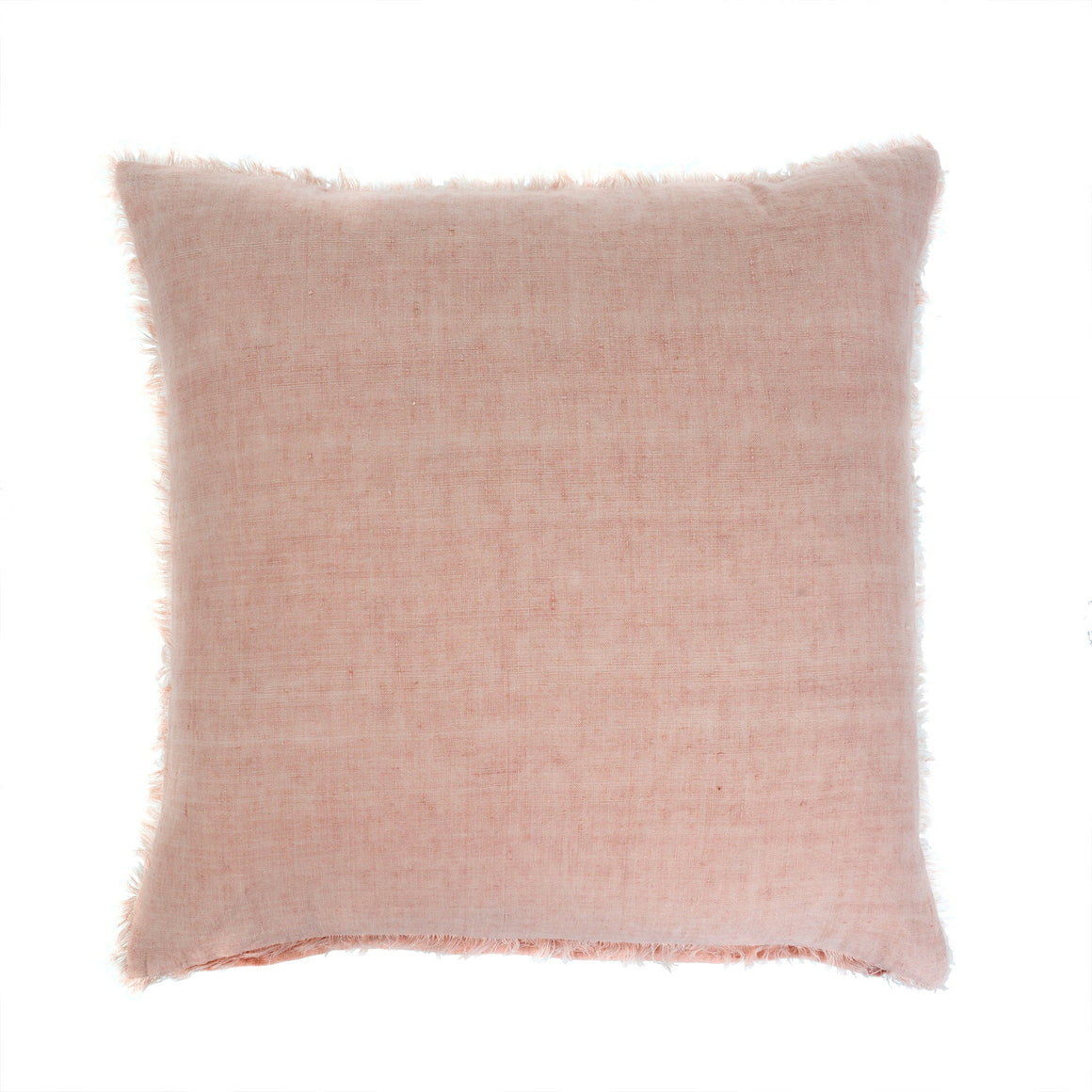 Peach Pink Linen Pillow