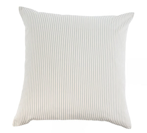 Grey Ticking Stripe Pillow