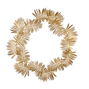 Gold Frond Wreath