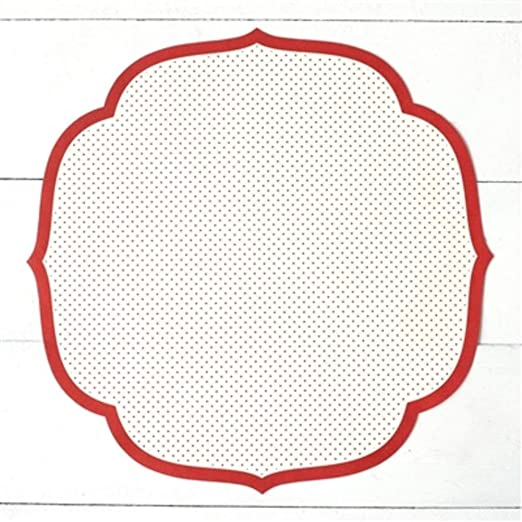 Die Cut Red Swiss Dot Placemat