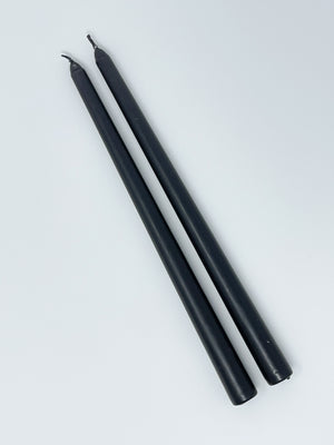 "Black 12"" Taper Candle"