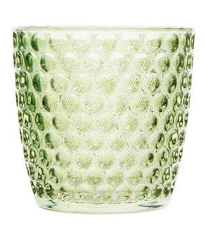 Green Glass Votive Holders -
