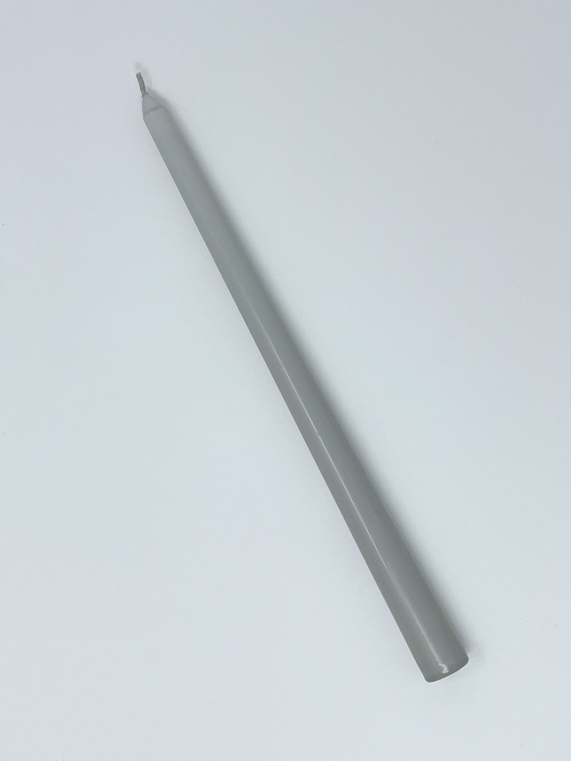 "Gray 12"" Taper Candle"