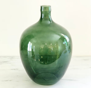 "15.5"" Vintage Reproduction Green Glass Bottle"