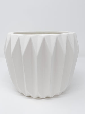 Large Fluted Stoneware Planter