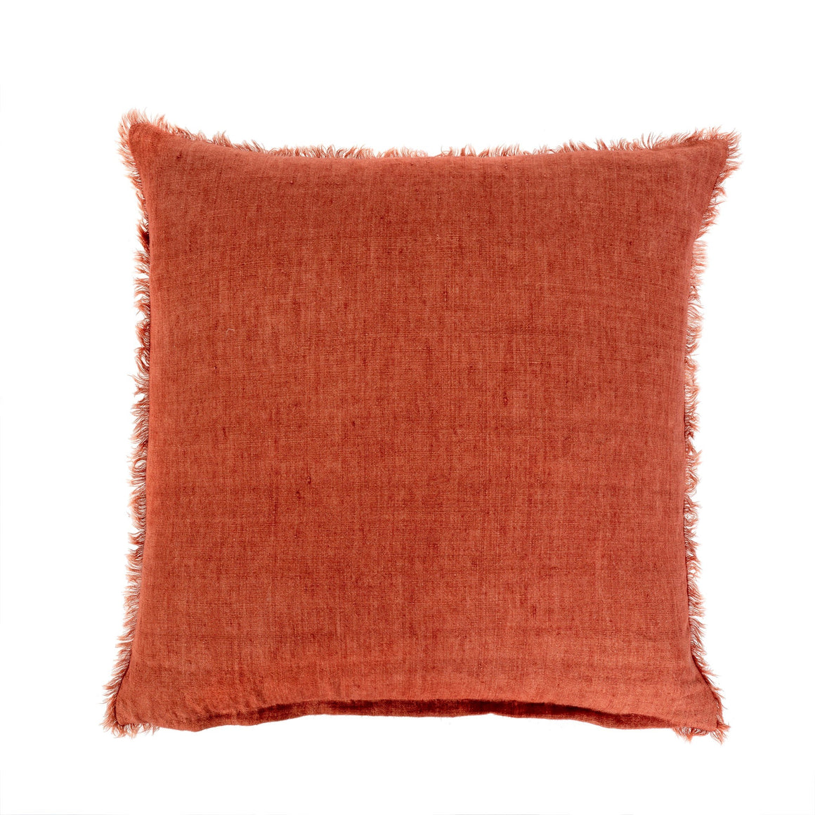 Rust Linen Pillow