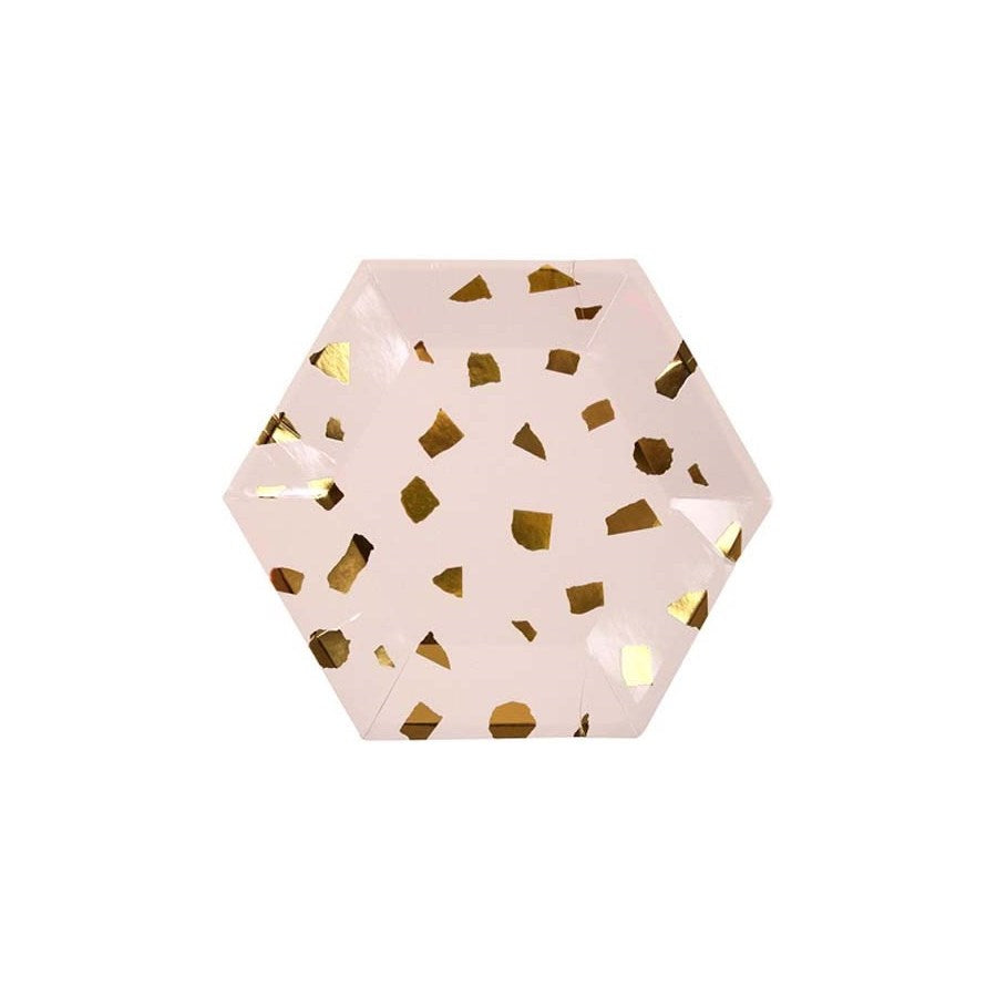 Small Blush Terrazzo Party Plate
