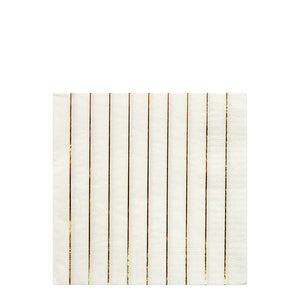 Large Gold Striped Napkin