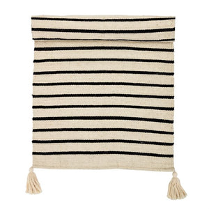 Black + Cream Striped Rug