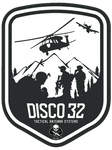 Disco32 Logo Sticker - DISCO32 Tactical Antenna Systems