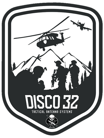 Disco32 Logo Sticker - DISCO32 TACTICAL ANTENNAS
