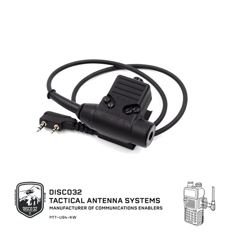 U-94/A - Kenwood 2 Pin (NO AMP) - DISCO32 Tactical Antenna Systems
