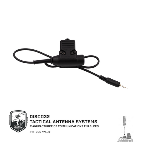 U-94/A - Yaesu Waterproof - DISCO32 Tactical Antenna Systems