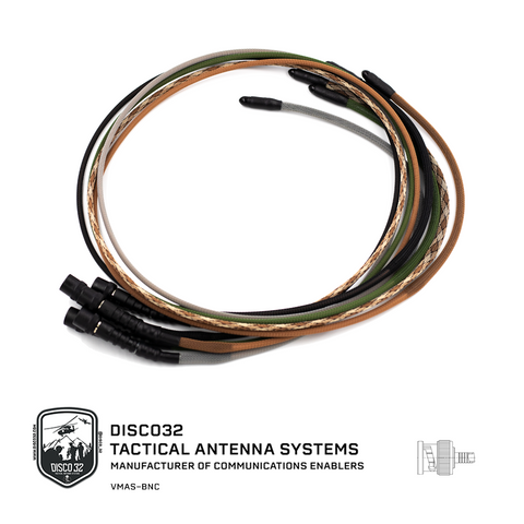 Vest Mounted Antenna System BNC - DISCO32 Tactical Antenna Systems