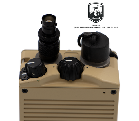Black Quick Detachment (TNC-M / BNC-F) Adapter for Military Hand held Radios - DISCO32 Tactical Antenna Systems