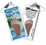 New Jersey FootWhere® Souvenir Zipper-Pull. Made in USA-FootWhere® Souvenirs